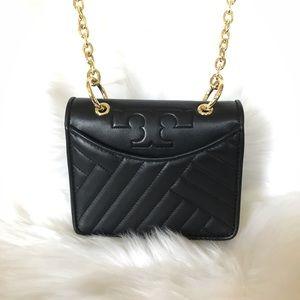 Tory Burch Alexa mini shoulder bag black RSP $325